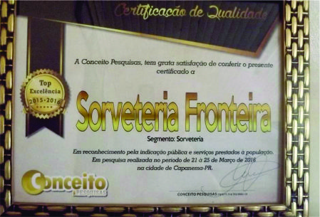 SORVETERIA FRONTEIRA