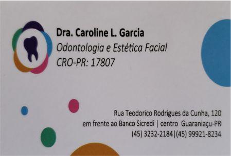 DRA. CAROLINE LOCATÉLLI GARCIA ODONTOLOGIA