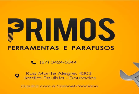 PRIMOS FERRAMENTAS E PARAFUSOS