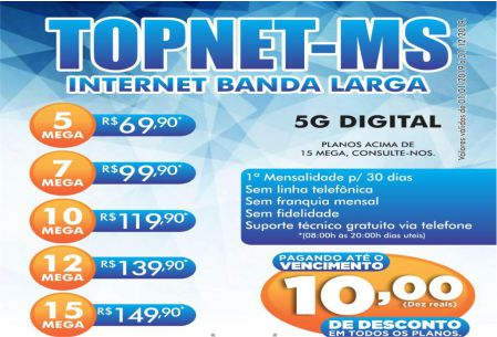 TOPNET-MS INTERNET BANDA LARGA