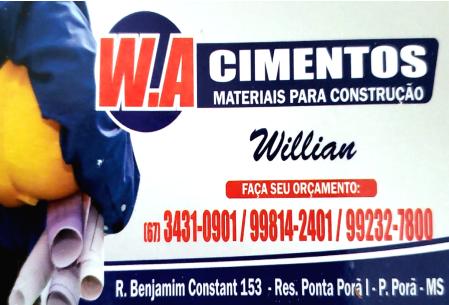 W.A CIMENTOS MATERIAIS DE CONTRUÇÃO