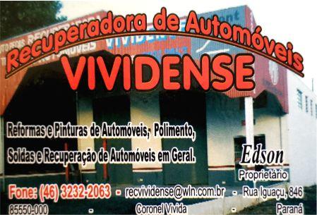 RECUPERADORA DE AUTOMÓVEIS VIVIDENSE