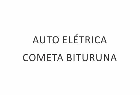 AUTO ELÉTRICA COMETA BITURUNA