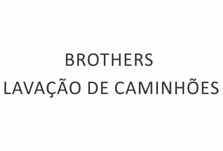 BROTHERS LAVAÇÃO DE CAMINHÕES