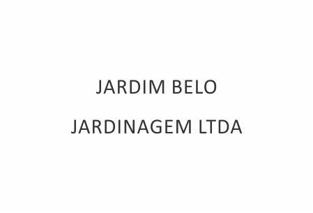 JARDIM BELO JARDINAGEM LTDA
