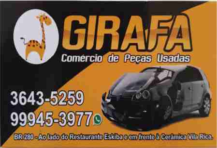 GIRAFA COMÉRCIO DE PEÇAS USADAS