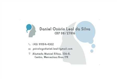 Psicólogo Daniel Osório Leal da Silva