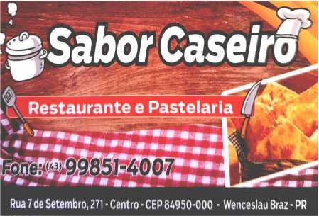Sabor Caseiro Restaurante e Pastelaria