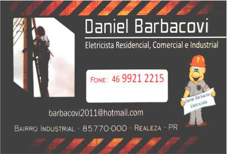 DANIEL BARBACOVI ELETRICISTA
