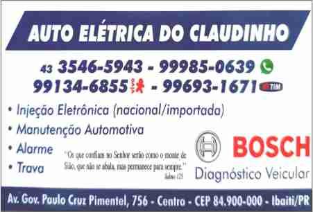 AUTO ELÉTRICA DO CLAUDINHO