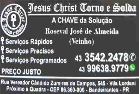 Jesus Christ Torno e solda